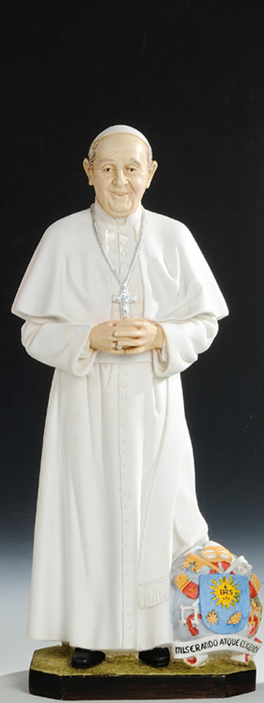 Pope Francis Statue - Made in Italy, Hand Painted, 11.8' Inches