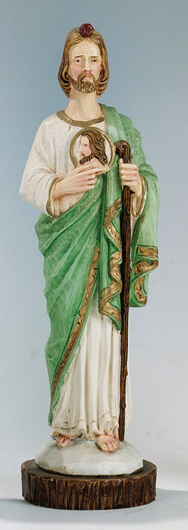 Saint Jude Statue - Made in Italy, Hand Painted, 7.8' Inches