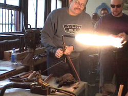 Armorer's Guild April 2004 Session (DVD) with Aaron Toman and Chuck Davis - Basic Fluting, Hot Raising a Greave, Hot Raising an Hourglass Gauntlet