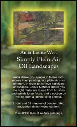Simply Plein Air - Oil Landscapes with Anita Louise West (DVD)