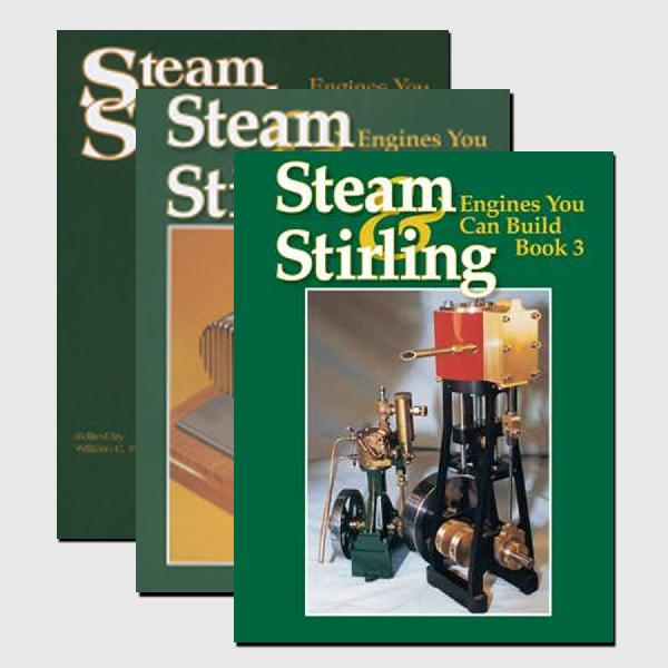 Steam and Stirling Set: Engines You Can Build (Volumes 1, 2 and 3)