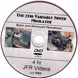 7 x 10 Variable Speed Mini Lathe with Jose Rodriguez (4 Hour DVD) - Machining operations on the 7 x 10 variable speed Asian-Made Mini Lathe