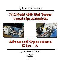7 x 12 Model 4100 High Torque Mini Lathe Advanced Operations with Jose Rodriguez (DVD)  - The Brand New 7 x 12 High Torque Variable Speed Mini Lathe