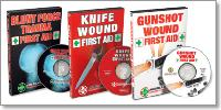 First Aid DVD Set: Gunshot Wound, Knife Wound, and Blunt Force Trauma First Aid with John Klatt (3 DVD Set)