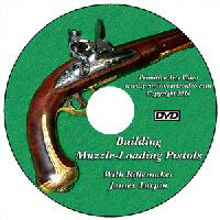 Building Muzzleloading Pistols with James Turpin (DVD) - Run time is 2 hours and fifteen minutes.