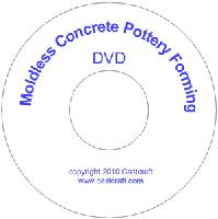 Moldless Concrete Pottery Forming (DVD + booklet) by Neavida Cairns - 55 minutes run time