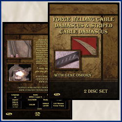 Forge Welding Cable & Striped Damascus with Gene Osborn (2 DVDs)