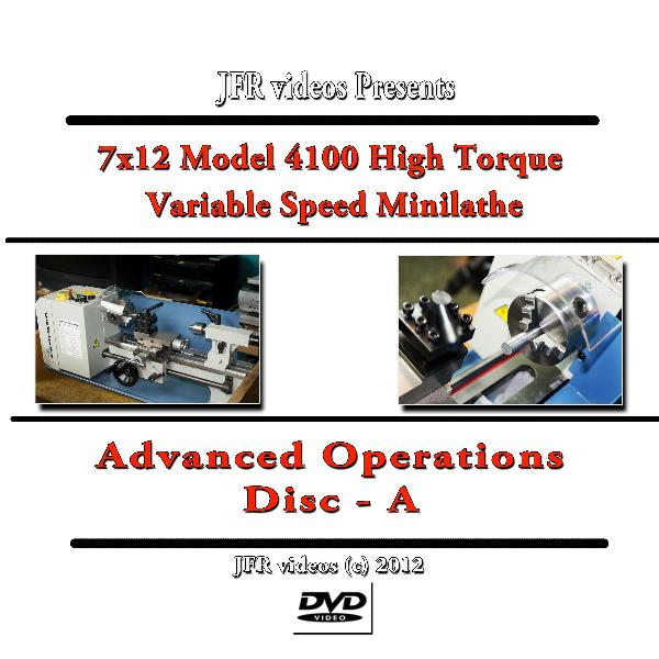 7 x 12 Model 4100 High Torque Mini Lathe Advanced Operations with Jose Rodriguez (DVD)