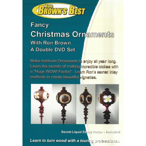 Fancy Christmas Ornaments (Make Wood Ornaments on the Lathe) 2 DVDs