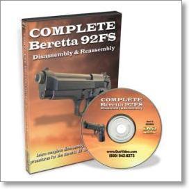 Complete Beretta 92FS Disassembly and Reassembly (DVD)