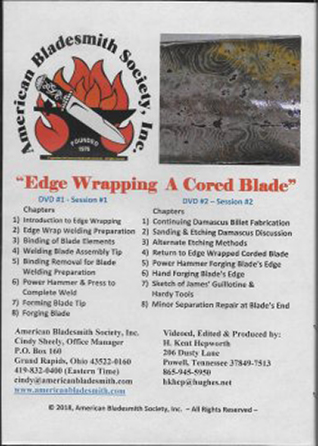 Edge Wrapping a Cored Blade by James Rodebaugh (an American Bladesmith Society DVD)