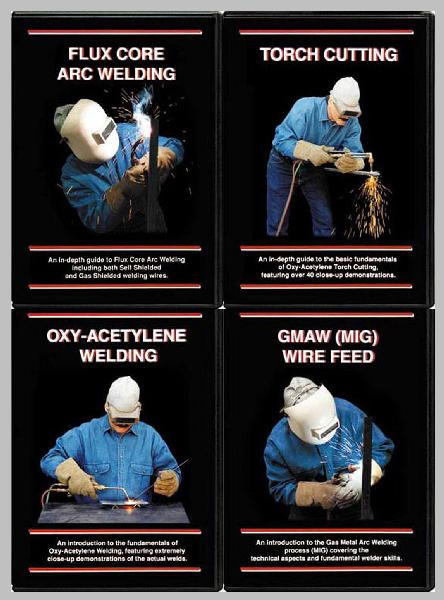 GMAW & Flux Core & Oxy-Acetylene & Torch Cutting with Steve Bleile (4 DVD Welding Set)