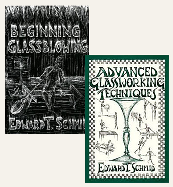 Beginning and Advanced Glassblowing: Two Book Set by Edward Schmid