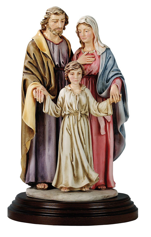 Holy Family Statue - Made in Italy, Hand Painted,  15.7' Inches
