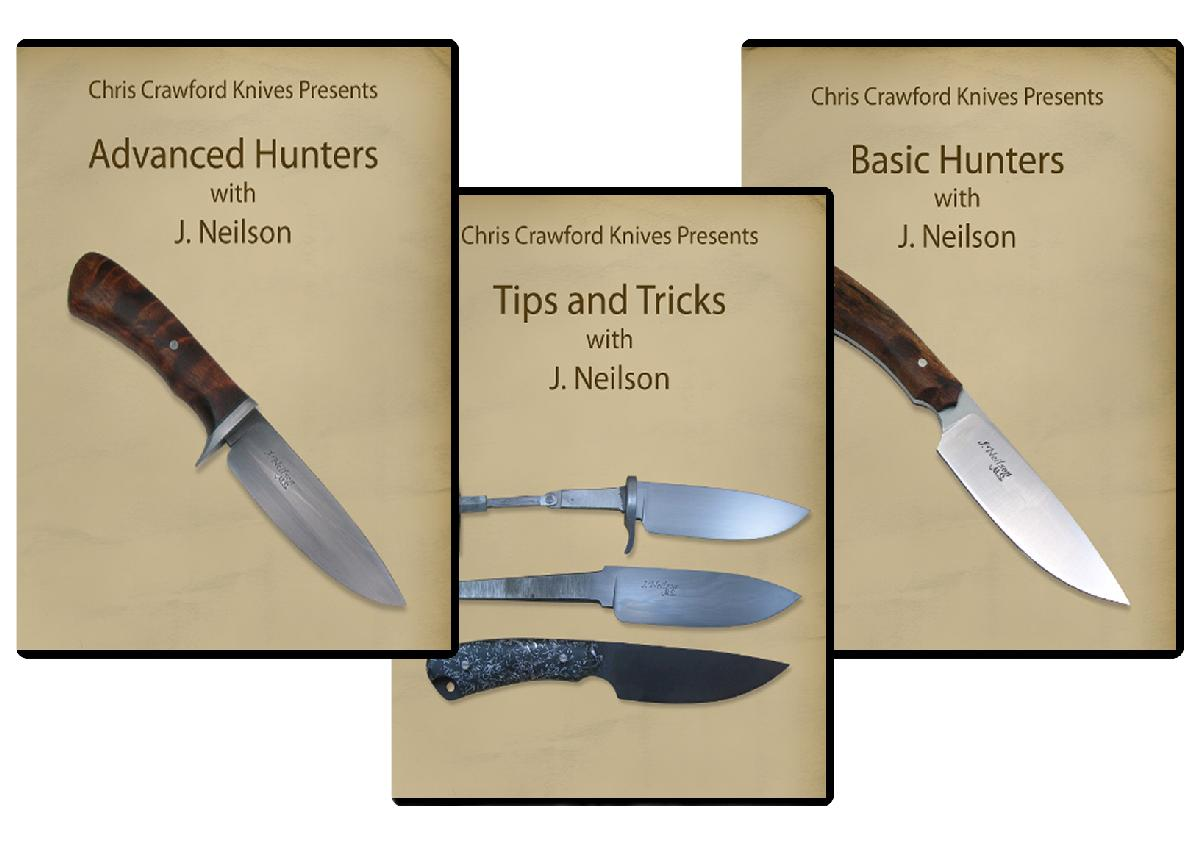 Basic & Advanced Hunters plus Tips and Tricks with J. Neilson (3 Knifemaking DVDs)