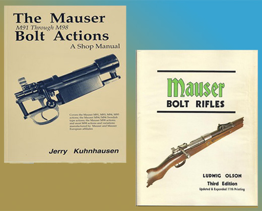 Mauser Bolt Action Bundle (2 Book Set) by Jerry Kuhnhausen & Ludwig Olson