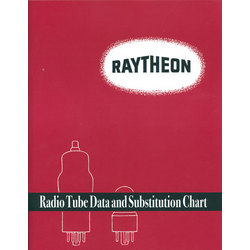 Raytheon Radio Tube Data and Substitution Chart by Raytheon Manufacturing Company