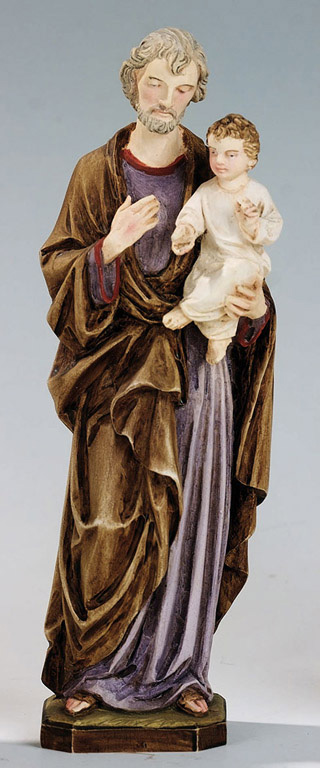 Saint Joseph Statue - Made in Italy, Hand Painted, 8.6' Inches