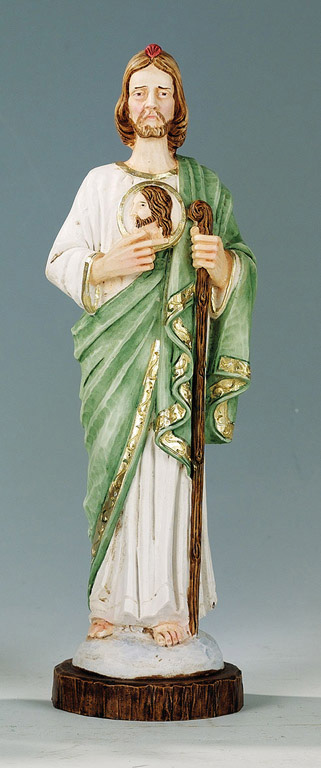 Saint Jude Statue - Made in Italy, Hand Painted, 9.8' Inches