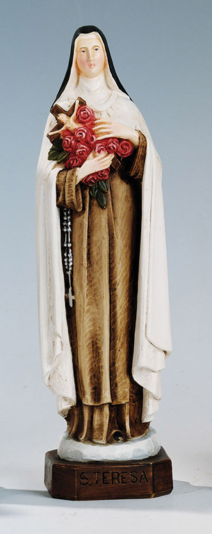 Saint Therese Statue - Made in Italy, Hand Painted, 7.8' Inches