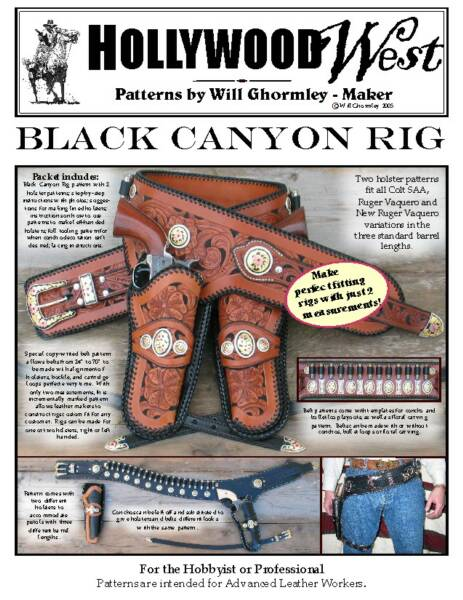 Black Canyon Rig Pattern Pack by Will Ghormley