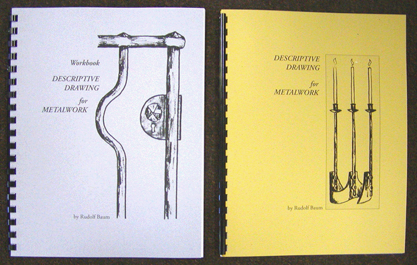 Descriptive Drawing for Metalwork by Rudolf Baum & Workbook for Descriptive Drawing (2 Books!)