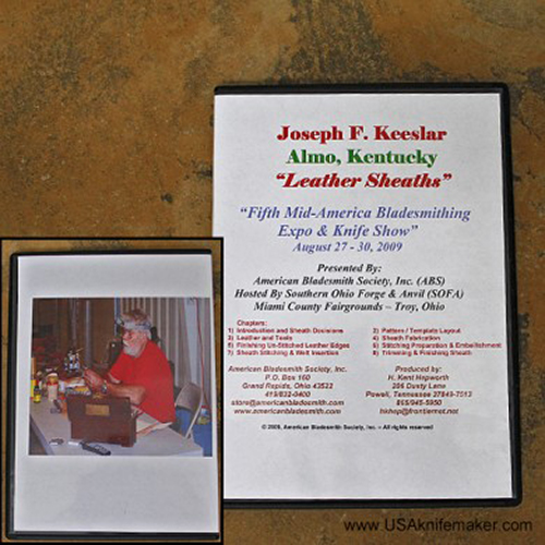 Leather Sheaths by Joe Keeslar (An American Bladesmith Society DVD)