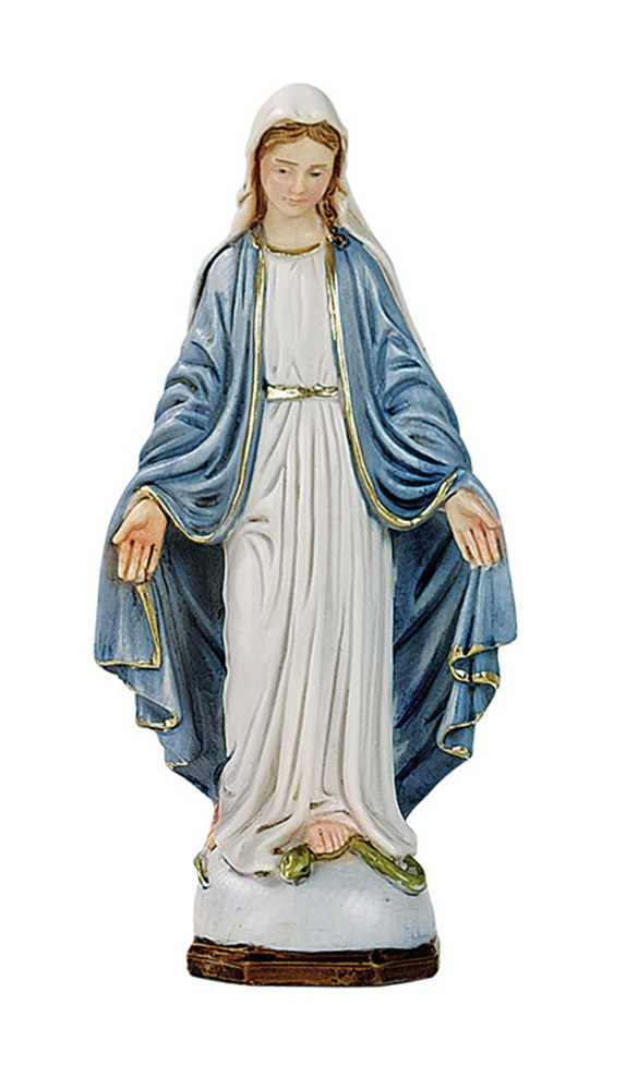 Our Lady of Grace Statue - Made in Italy, Hand Painted, 6.2' Inches