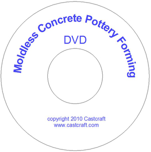 Moldless Concrete Pottery Forming (DVD + booklet) by Neavida Cairns