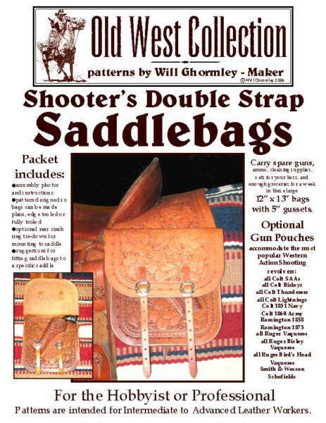 Shooter's Double Strap Saddlebags Pattern Pack by Will Ghormley
