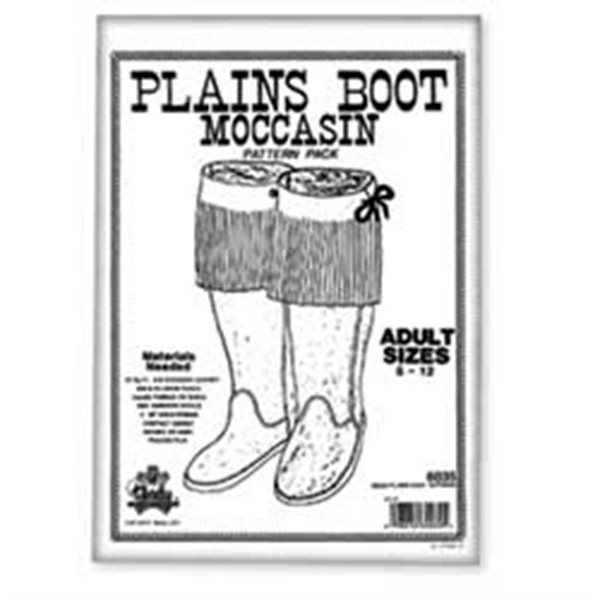 Plains Boot Moccasin Pattern Pack, Adult Sizes 5 through 12