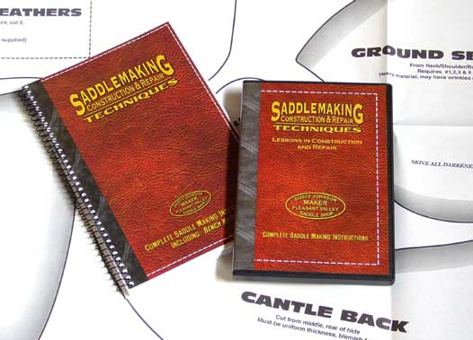 Saddlemaking Construction & Repair Techniques Set by Dusty Johnson (Book, DVD, & Pattern Pack)