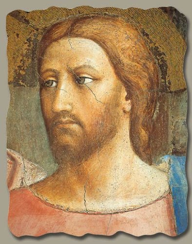 The Tribute Money by Masaccio (Detail), Italian-Made Fresco Reproduction on Plaster, 6 inches x 7 ¾ x 3/8 inches